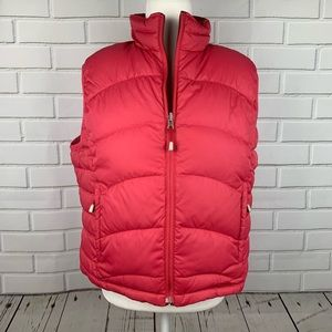 LL BEAN Reversible Goose Down Puffer Vest Large